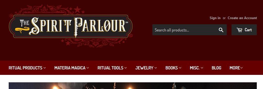 The Spirit Parlour - Webstore
